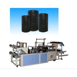 Computer Controlled High Speed Continuous Winding Rolls Garbage Bag Making Machine