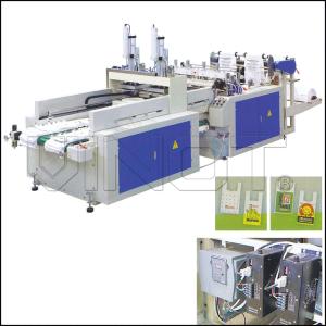 Full Automatic High Speed T - Shirt Bag Making Machine DYHQ - 450 X 2