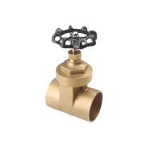 Brass gate valve with iron wheel NDL-7007