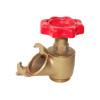 Brass gate valve with red iron wheel NDL-7008