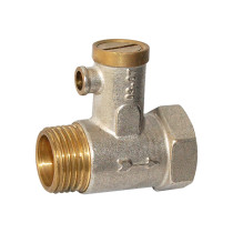 Brass safety valve with handle and lock