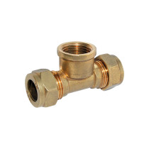 Brass compression fitting(tee )