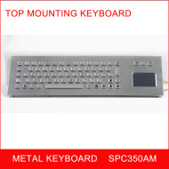 rugged metallic keyboard with touchpad