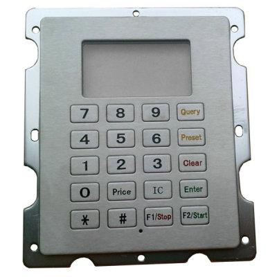 metal keyboard for fuel dispenser