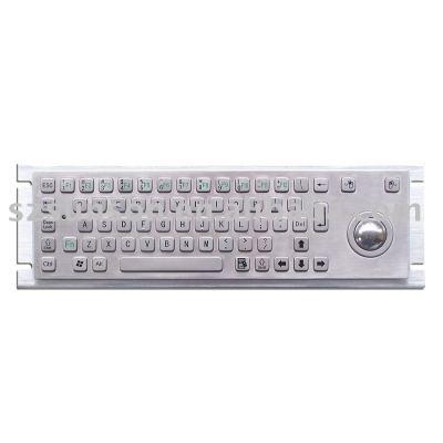 metal keyboard with trackball