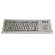 IP65 koisk metal keyboard with trackball used in harsh enviorment.