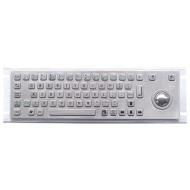 64keys vandal proof metal keyboard with trackball