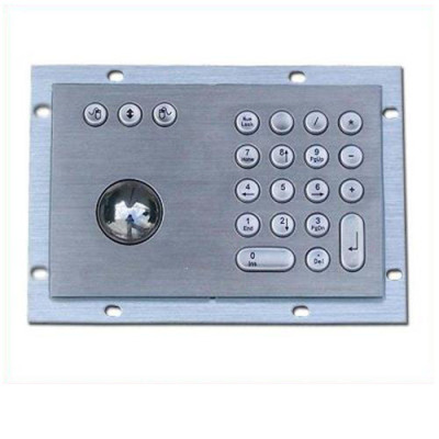 metal keypad integrated trackball