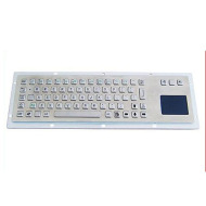kiosk metal keyboard with touchpad
