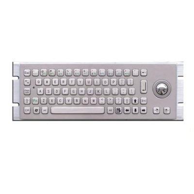 rugged metal  keyboard with trackball