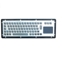 Rugged waterproof stainless steel computer kiosk keyboard with touchpad