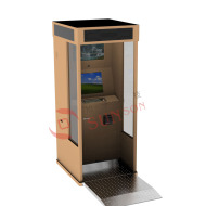 Semi Outdoor Cash Payment Kiosk Terminal With MEI Bill Acceptor