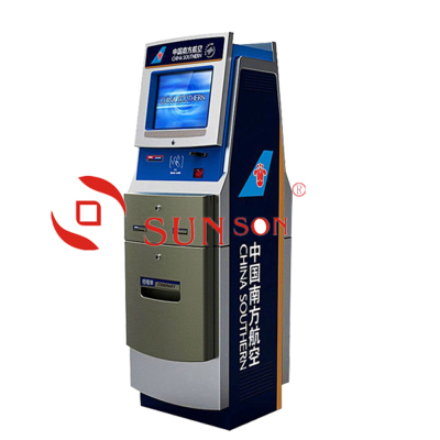 Airport Check In Self Service Boarding Pass Scan Printing Kiosk