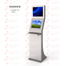 Semi Outdoor Info Kiosk With Dual High Brightness Touch Monitor PC Metal Keyboard