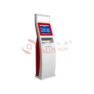 Slim Design Touch Screen Kiosk Cash Deposit Machine
