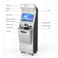 Interactive Payment Kiosk With Finger-vein Fingerprint Scanner A4 Printer Top Up RFID