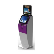 Mobile Prepaid Card Top Up Payment Kiosk Dual Screens With Card Dispenser