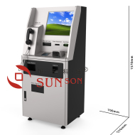 Card Add Value Issue Anonymous Smart Card Cash Card Payment Indoor Kiosk Terminal Coin Bill Bankcard Pay