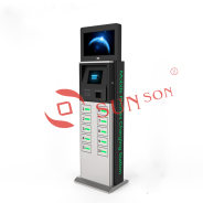Public Cell Phone Charging Station Kiosk