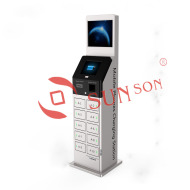 Dual Screen Mobile Device Charging Kiosk Locker With Cell Phone Charger