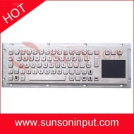 metal keyboard integrated touchpad