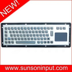 kiosk keyboard integrated touchpad