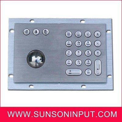 metal keypad integrated trackball