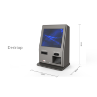 Wall Mounted Credit Card Cash Payment Touch Screen Kiosk Terminal