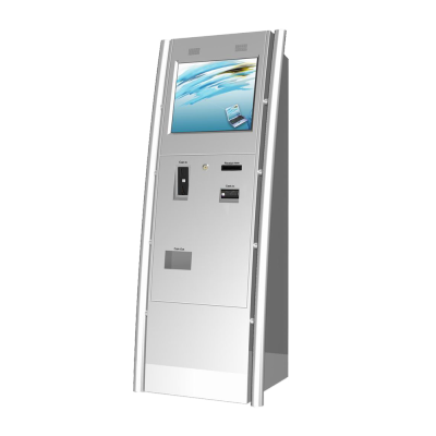 Lobby Slim Design Logo Remark Color Customized Bill Coin Payment Coin Give Change Interactive Kiosk