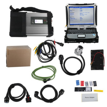 MB SD C5 Connect Compact 5 Star Diagnosis Plus Panasonic CF19 I5 4GB Laptop Software Installed Ready to Use