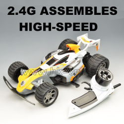2.4G assembly high speed racing car