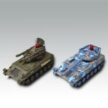 Infrared VS battle rc tanks