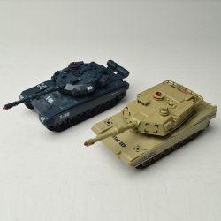 Emulated battle rc tanks