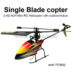 2.4G 4CH Mini Single Blade RC Helicopter with outdoor indoor