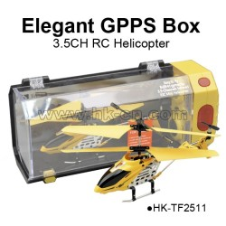 3.5CH metal alloy rc helicopter with GPPS gift box