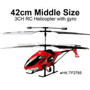 42cm Middle size 3CH RC Helicopter with gyro,TOYABI