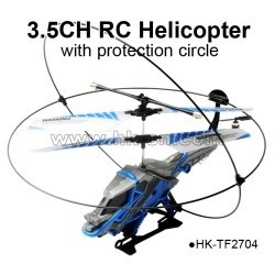 3.5CH rc helicopter with protection circle