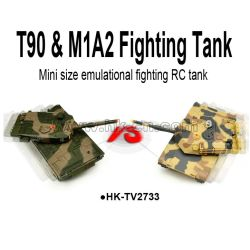real life T90 & M1A2 fighting rc tank