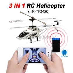 Hot sale 3 in 1  Iphone controlled 3.5CH mini rc helicopter