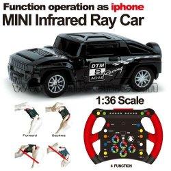 1:36 skala rc mini-rennwagen graffiti auto auto schwere sensing
