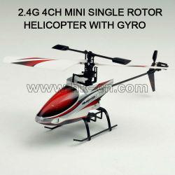 4 canales rc mini helicóptero con el girocompás, toyabi de juguete del rc