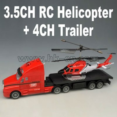 3.5ch rc helicopter+4ch anhänger
