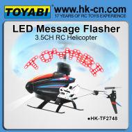 led de mensaje del helicóptero del rc