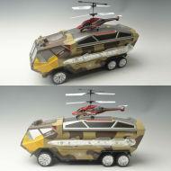 Jouet camion et l'armée. helicoptero pour jouets rc