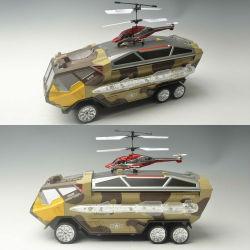 おもちゃ軍のトラックとhelicopterorcのおもちゃのための