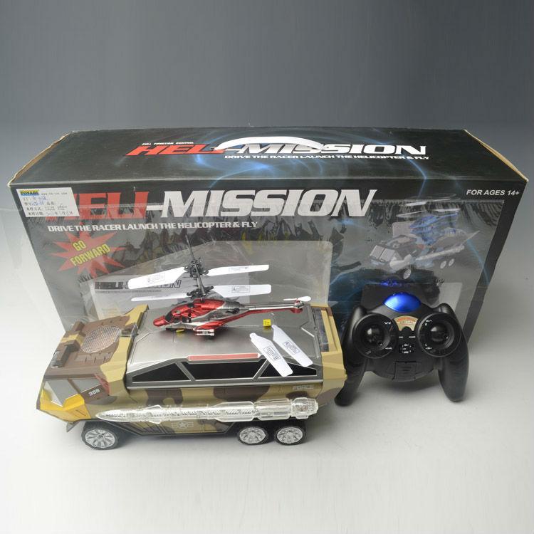 juguete camión del ejército y para helicoptero rc de juguete