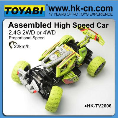 組み立てられた高速rcカー