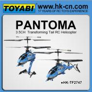 la transformación de la cola del helicóptero del rc
