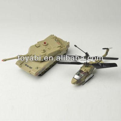 la lucha contra el tanque y un helicóptero