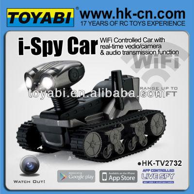 espía wifi del tanque del coche controlado wifi cámara del coche